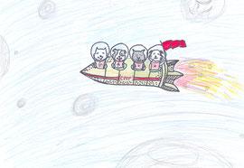 Рисунок ко Дню Космонавтики