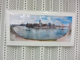 社内には隅田川が描かれた絵も飾られていましたよ~