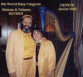 Shimon REUBEN & Nehama REUBEN . DUO REUBEN     Concert World Harp Congress      GENEVE 2002