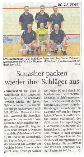 Holsteinischer Courier - Saisonvorbericht Teams II - IV