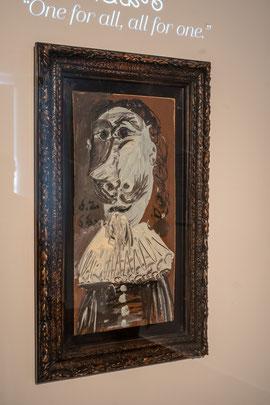 Bild: Gemälde Musketier von Picasso im Musée Picasso in Antibes