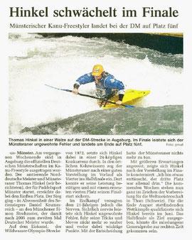 Westfälische Nachrichten, 29.07.09 (Auflage ca. 210.000)