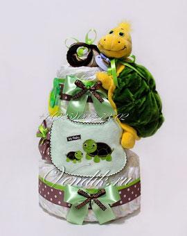 Что подарить на рождение? что подарить на год? - торт из подгузников! отличный подарок новорожденному!