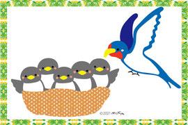 他の鳥のイラストはコチラヘ