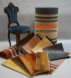 Bild: Bodenmuster Vinylboden, Laminatboden, Teppichboden und Pvc Boden