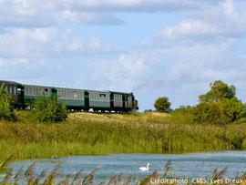 Train à vapeur en Baie de Somme( retour de la traversée de la Baie de Somme)
