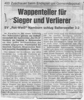 Zeitungsausschnitt aus der Saarbrücker Zeitung