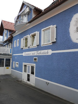 "Fassadenbeschichtung bei der Bäckerei ""Cafe Pension Kogler"" in Hitzendorf"