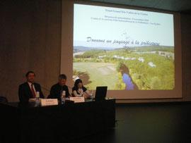 M. Musset, Sous Préfet de Sarlat et M. Lagarde, Président de la CdC Terre de Cro-Magnon, Coprésidents du COPIL, rappellent les enjeux du projet Grand Site
