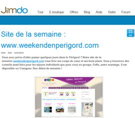 www.weekendenperigord.com site jimdo de la semaine