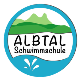 Albtal Schwimmschule, Logo, Schwimmkurse, Babyschwimmen,