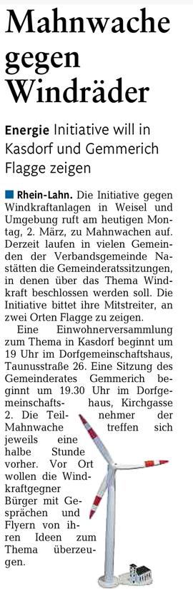 Rhein-Lahn-Zeitung v. 02.03.2015