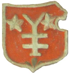 Wappen der Familie Henggeler an der unteren Haustüre des oberen Bethenbühls