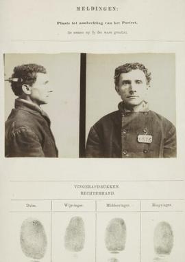 Signalementskaart Veenhuizen opname 17-08-1896