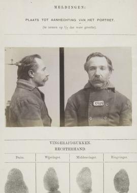 Signalementkaart Veenhuizen opname 02-03-1897