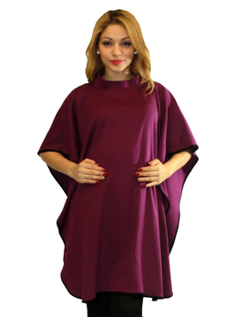maternity poncho color purple