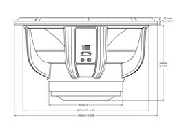 Skizze Maße Audiofrog Lautsprecher