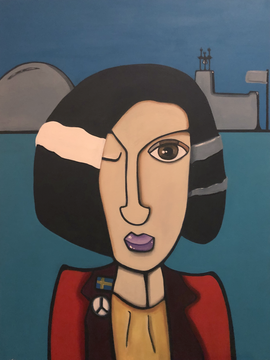 STOCKHOLM WOMAN 60 x 80 Acryl