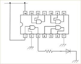 生徒に配布したAND回路を使った実験用設計図