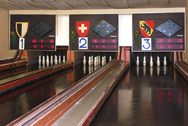 Kegelbahn im Restaurant National in Burgdorf. [zvg]
