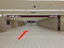 チケットバンク金沢駅前店へのアクセス(金沢駅地下)