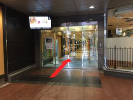 チケットバンク金沢駅前店へのアクセス(ポルテ金沢地下)