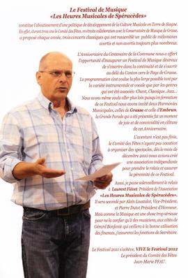 Le discours du président 2011, Jean-Marie PFAU. Cliquer pour agrandir
