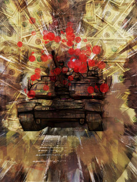 Krieg, digitale Grafik, 2017