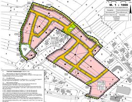 B-Plan eines Wohngebietes in der Gemeinde Esterwegen