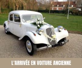 A chaque semaine, son moyen de transport original pour les mariés ! Voiture ancienne