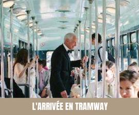 A chaque semaine, son moyen de transport original pour les mariés ! Tramway
