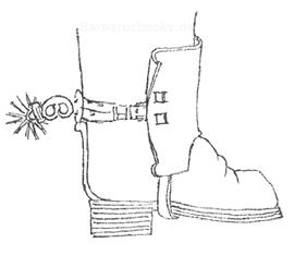 Sporen und Stiefel des 17. Jahrhunderts