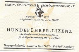 Begleithundeführer-Lizenz