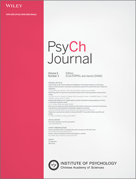 Page of the journal by Wiley and the IPCAS named the PsyCh Journal