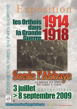 orthe, sorde l'abbaye, landes, aquitaine, 1914, 1918, grange aux dimes, grande guerre, exposition, france