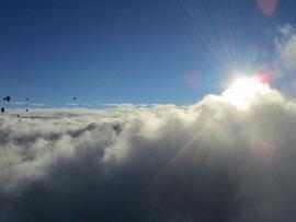 8500ftからの雲海