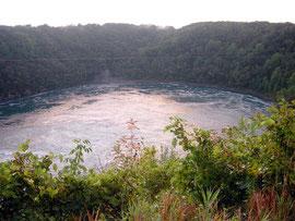 Der nahezu kreisrunde Whirlpool