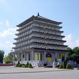 Die siebenstöckige Stupa