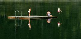 Badefreuden am Sylvensteinsee