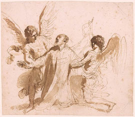 Guercino - Mort de Saint-Pilippe de Néri