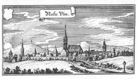 Neckarsulm um 1648 (Kupferstich von Matthäus Merian)