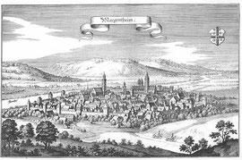 Mergentheim um 1648 (Kupferstich von Matthäus Merian)