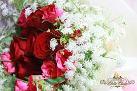 ピンク&レッドのバラの花束