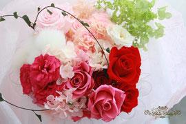 プリザーブドフラワーの花束&ミニージュエリーボックス
