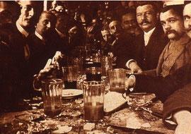 Die Schweinfurter Schlachtschüssel - hier im Jahr 1897