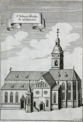 Die St. Johanniskirche im Jahre 1648