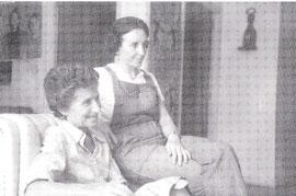 Margarita Calvary (links) mit Emma Gans 1978