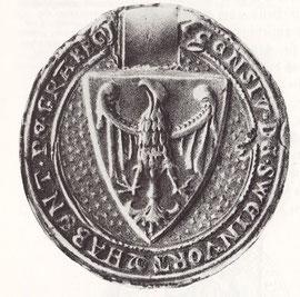Stadtsiegel aus der zweiten Hälfte des 13. Jahrhunderts