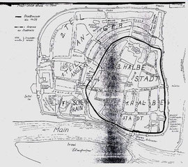 Die erste Stadtmauer 1439 - bitte vergrößern!
