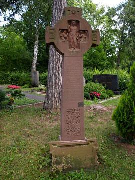 Das Grab Carl v. Schultes im Hauptfriedhof in Schweinfurt